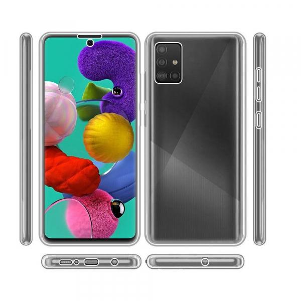 Husa Samsung Galaxy A51 Full TPU 360 (fata + spate), Transparent 2