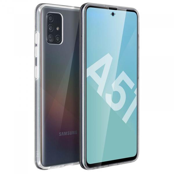 Husa Samsung Galaxy A51 Full TPU 360 (fata + spate), Transparent 1