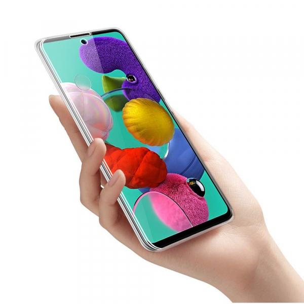 Husa Samsung Galaxy A51 Full TPU 360 (fata + spate), Transparent 3