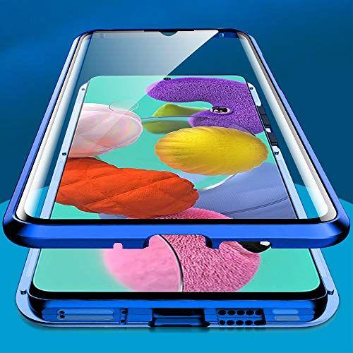 Husa Samsung Galaxy A51 Magnetic Glass 360 (sticla fata + spate), Albastru 2