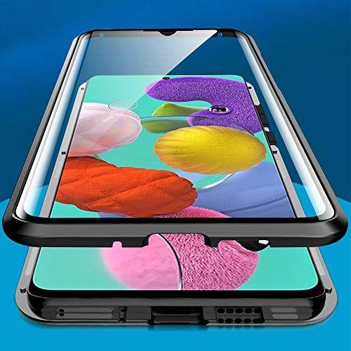 Husa Samsung Galaxy A51 Magnetic Glass 360 (sticla fata + spate), Negru 1