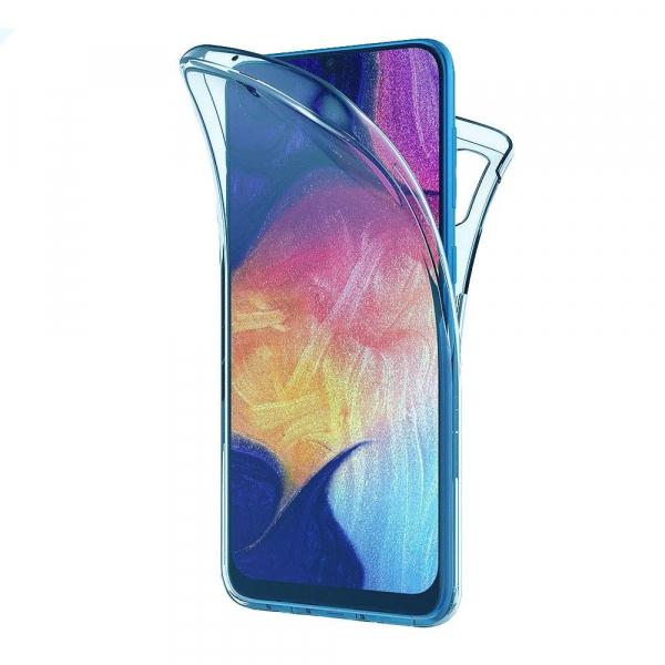 Husa Samsung Galaxy A70 Full TPU 360 (fata + spate), Albastru transparent [0]