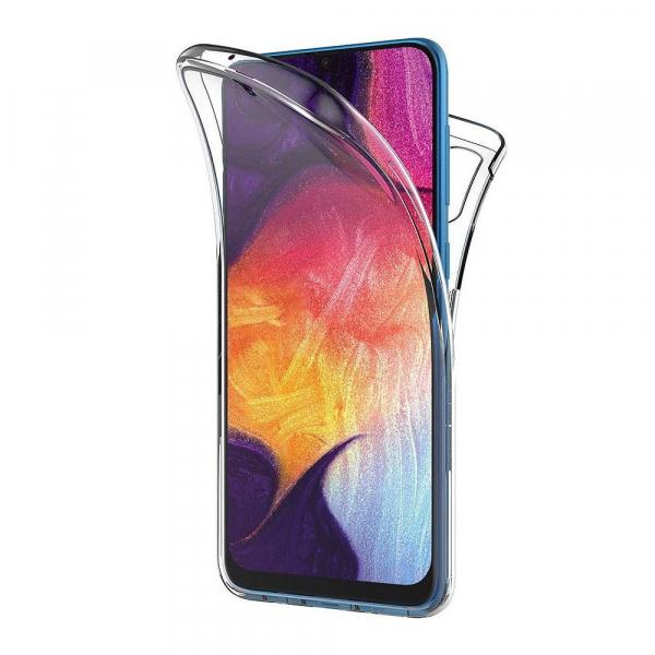 Husa Samsung Galaxy A70 Full TPU 360 (fata + spate), Transparent 0