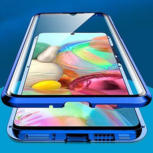 Husa Samsung Galaxy A71 Magnetic Glass 360 (sticla fata + spate), Albastru 1