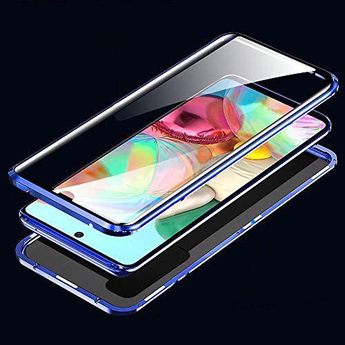 Husa Samsung Galaxy A71 Magnetic Glass 360 (sticla fata + spate), Albastru 2