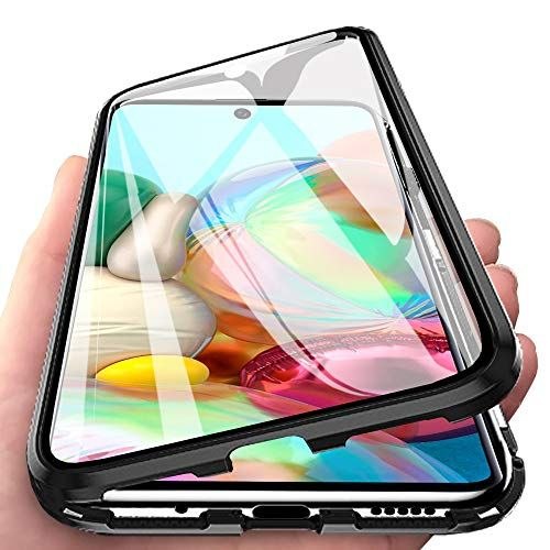 Husa Samsung Galaxy A71 Magnetic Glass 360 (sticla fata + spate), Negru 1