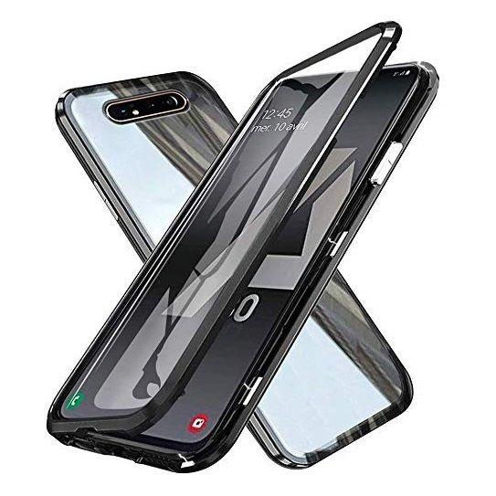 Husa Samsung Galaxy A80 Magnetic Glass 360 (sticla fata + spate), Negru 0