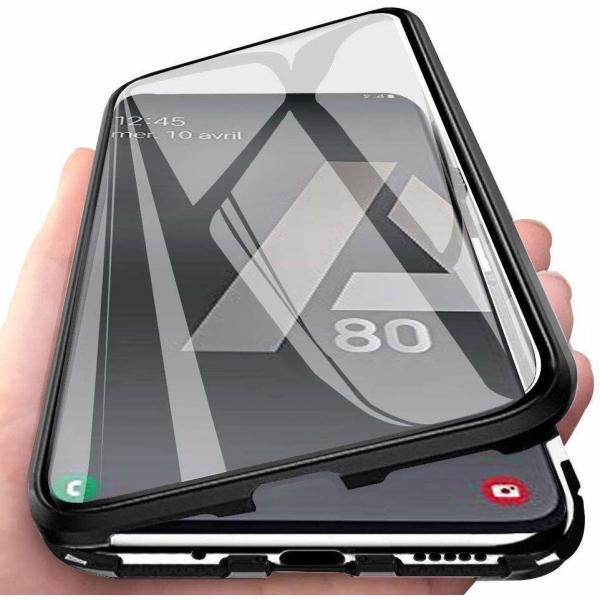 Husa Samsung Galaxy A80 Magnetic Glass 360 (sticla fata + spate), Negru 1