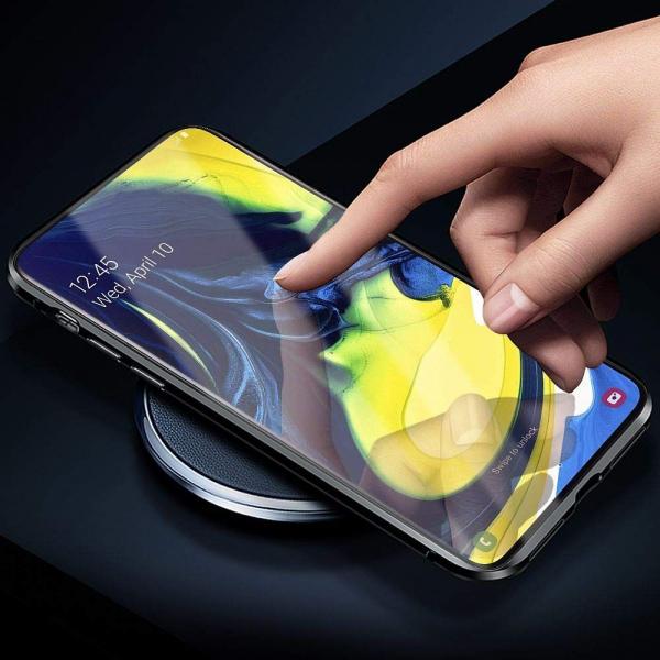 Husa Samsung Galaxy A80 Magnetic Glass 360 (sticla fata + spate), Negru 2