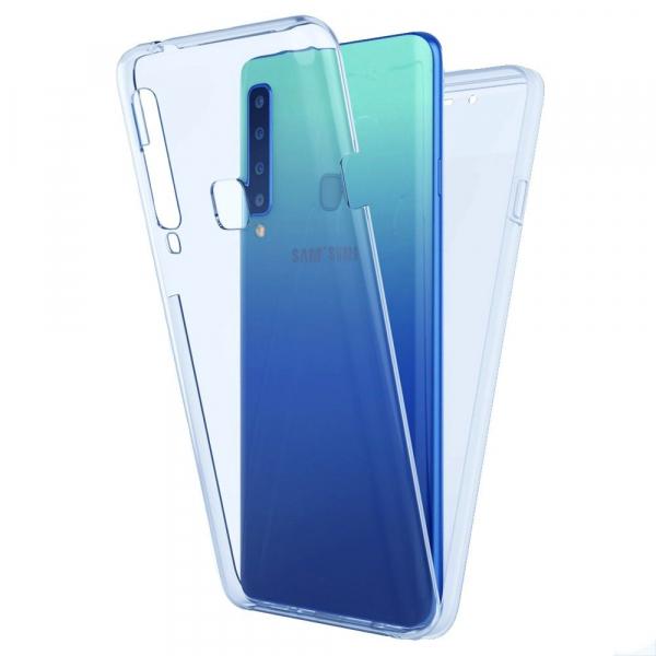 Husa Samsung Galaxy A9 (2018) Full TPU 360 (fata + spate), Albastru transparent 0