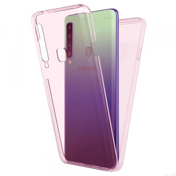Husa Samsung Galaxy A9 (2018) Full TPU 360 (fata + spate), Rose Gold transparent [0]