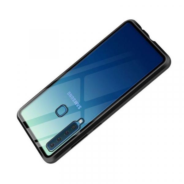 Husa Samsung Galaxy A9 (2018) Magnetic Glass 360 (sticla fata + spate), Negru 3