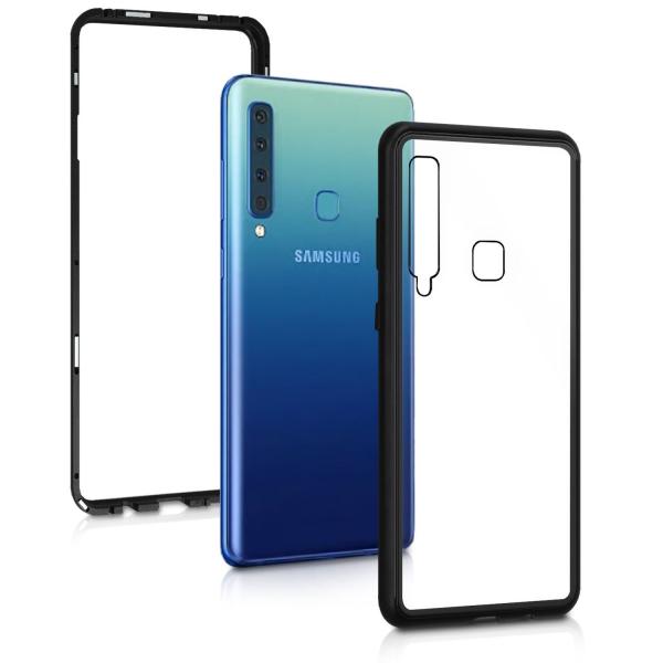 Husa Samsung Galaxy A9 (2018) Magnetic Glass 360 (sticla fata + spate), Negru 1