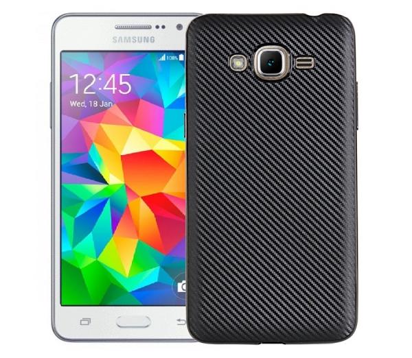 Husa Samsung Galaxy J3 (2016) i-Zore Carbon, Negru 0