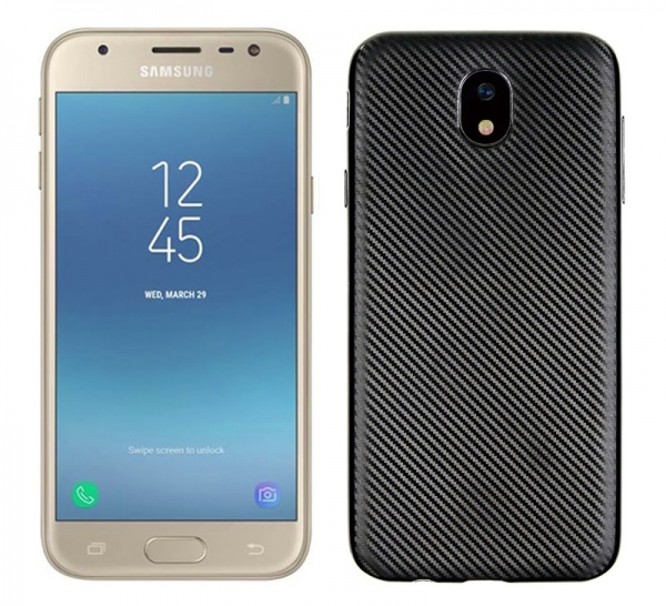 Husa Samsung Galaxy J3 (2017) i-Zore Carbon, Negru 0