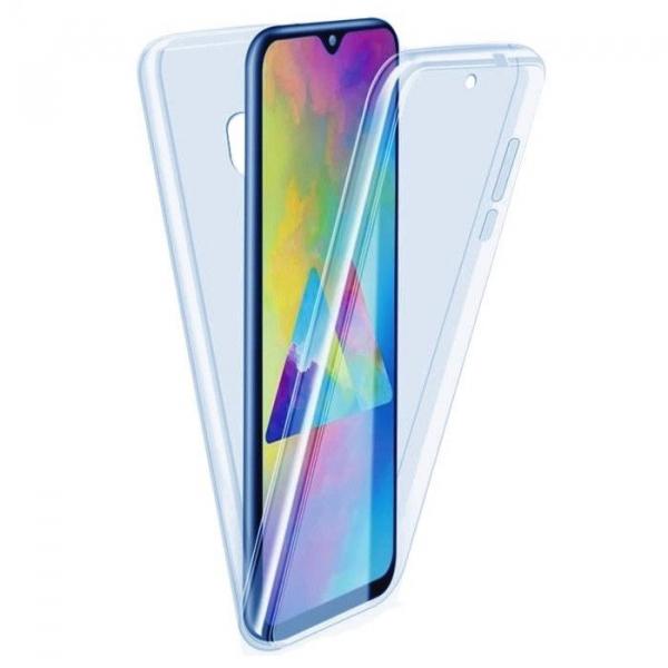 Husa Samsung Galaxy M20 Full TPU 360 (fata + spate), Albastru transparent 0