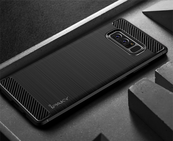 Husa Samsung Galaxy Note 8 iPaky Fiber, Negru 2
