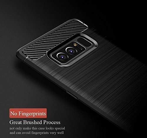 Husa Samsung Galaxy Note 8 iPaky Fiber, Negru 3