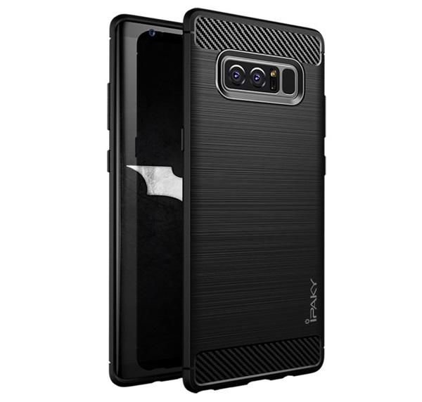 Husa Samsung Galaxy Note 8 iPaky Fiber, Negru 0
