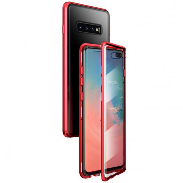 Husa Samsung Galaxy S10+ Magnetic Glass 360 (sticla fata + spate), Red 0