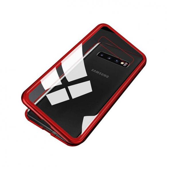Husa Samsung Galaxy S10 Magnetic Glass 360 (sticla fata + spate), Red 2
