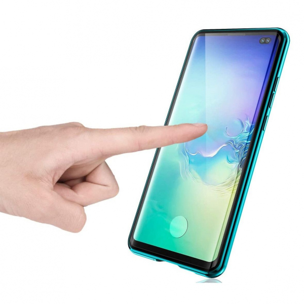 Husa Samsung Galaxy S10+ Magnetic Glass 360 (sticla fata + spate), Verde 3