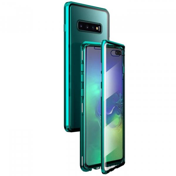 Husa Samsung Galaxy S10+ Magnetic Glass 360 (sticla fata + spate), Verde 1