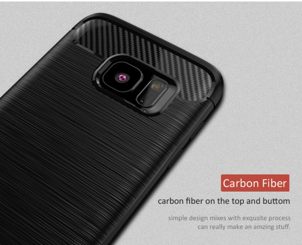 Husa Samsung Galaxy S7 Edge iPaky Fiber, Negru 2