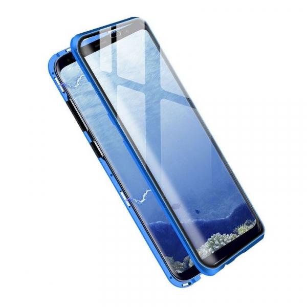 Husa Samsung Galaxy S8 Magnetic Glass 360 (sticla fata + spate), Albastru 1