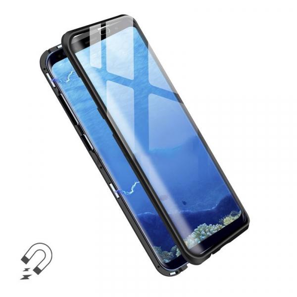 Husa Samsung Galaxy S8 Magnetic Glass 360 (sticla fata + spate), Negru [1]