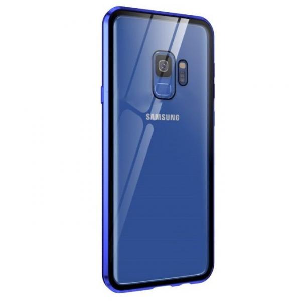 Husa Samsung Galaxy S9 Magnetic Glass 360 (sticla fata + spate), Albastru 1