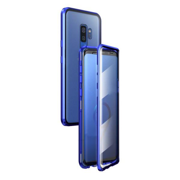Husa Samsung Galaxy S9 Plus Magnetic Glass 360 (sticla fata + spate), Albastru 0