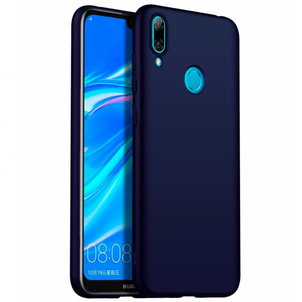 Husa Soft TPU pentru Huawei Y7 2019, Albastru inchis 0