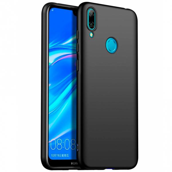Husa Soft TPU pentru Huawei Y7 2019, Negru 0