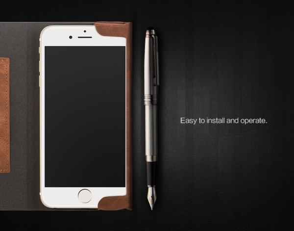 Husa tip carte Joyroom England iPhone 7, Maro [2]