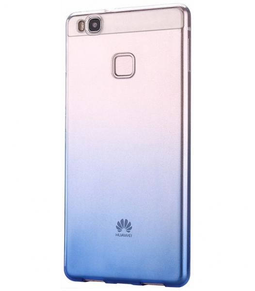 Husa TPU Gradient pentru Huawei P9, Albastru / Transparent 0