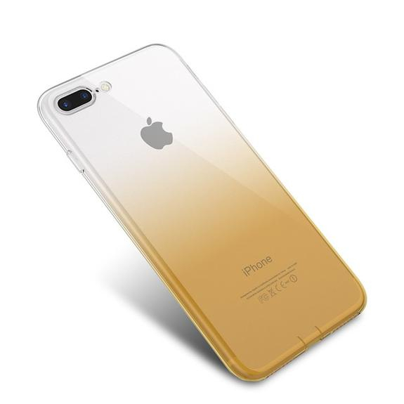 Husa TPU Gradient pentru iPhone 7 Plus, Galben / Transparent 1