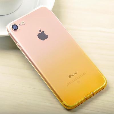 Husa TPU Gradient pentru iPhone 8, Galben / Transparent 1