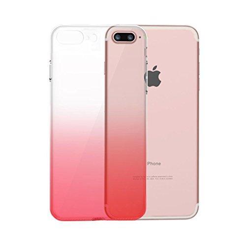 Husa TPU Gradient pentru iPhone 8 Plus, Roz / Transparent 0