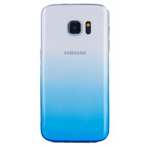 Husa TPU Gradient pentru Samsung Galaxy S7 Edge, Albastru / Transparent 0