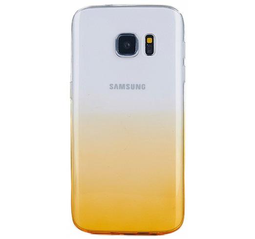 Husa TPU Gradient pentru Samsung Galaxy S7 Edge, Galben / Transparent 0