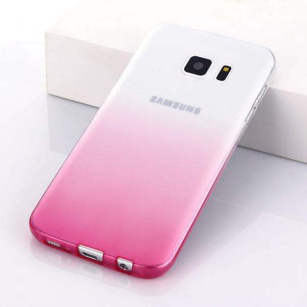 Husa TPU Gradient pentru Samsung Galaxy S7 Edge, Roz / Transparent 1