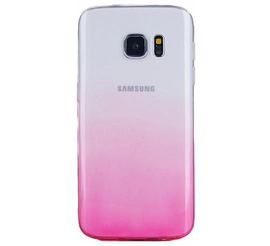 Husa TPU Gradient pentru Samsung Galaxy S7 Edge, Roz / Transparent 0
