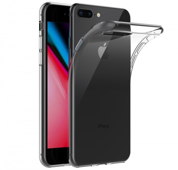 Husa TPU Slim iPhone 8 Plus, Transparent 0