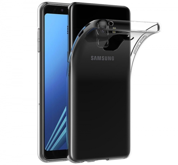 Husa TPU Slim Samsung Galaxy A8 (2018), Transparent 0