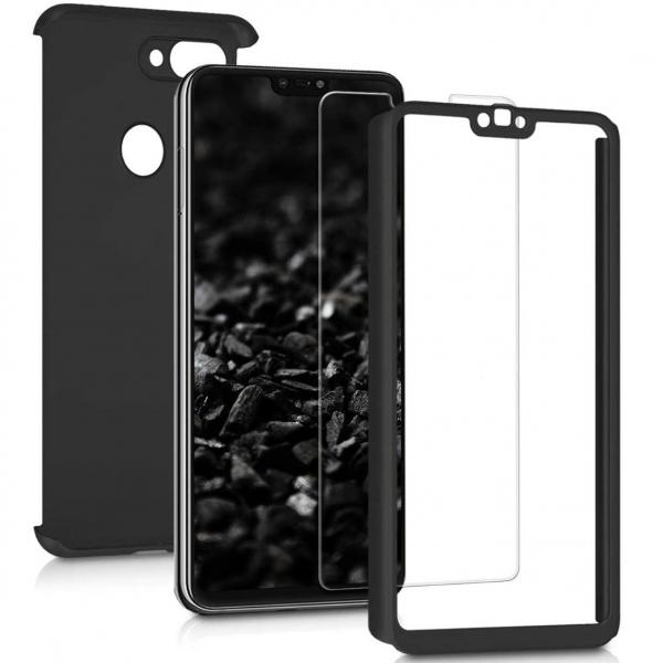 Husa Xiaomi Mi 8 Lite Full Cover 360 + folie sticla, Negru 1