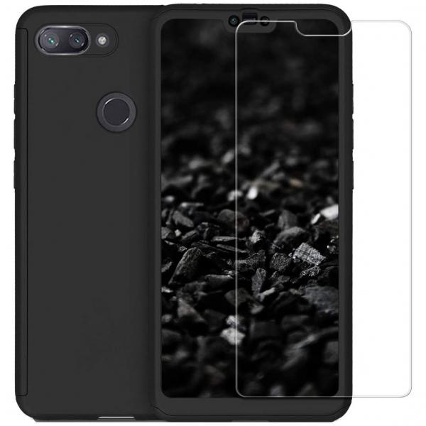 Husa Xiaomi Mi 8 Lite Full Cover 360 + folie sticla, Negru 0