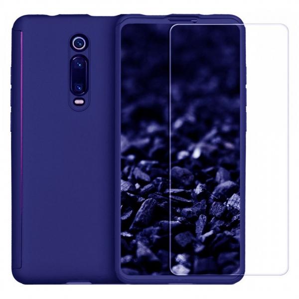 Husa Xiaomi Mi 9T Full Cover 360 + folie sticla, Albastru 0