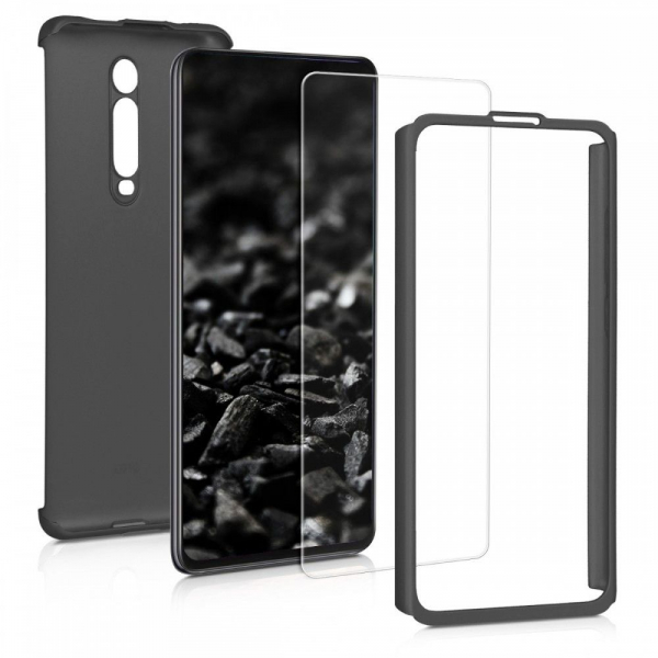 Husa Xiaomi Mi 9T Full Cover 360 + folie sticla, Negru 1