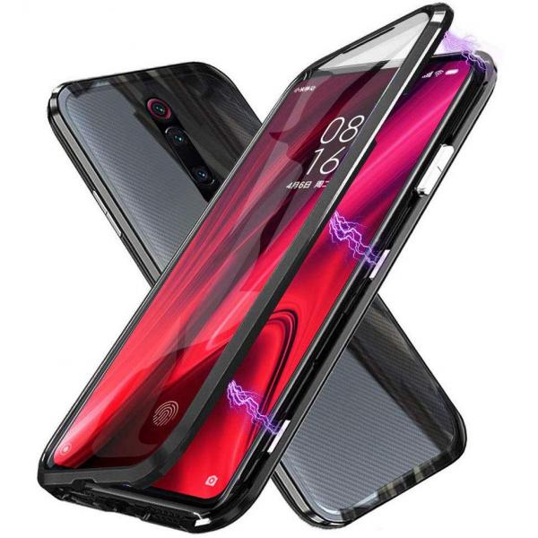 Husa Xiaomi Mi 9T Magnetic Glass 360 (sticla fata + spate), Negru 0